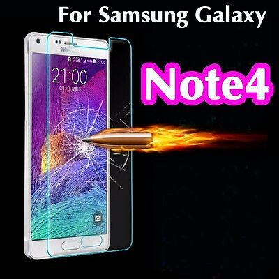 100% Genuine Tempered Glass 9H Screen Protector For Samsung Galaxy Note4