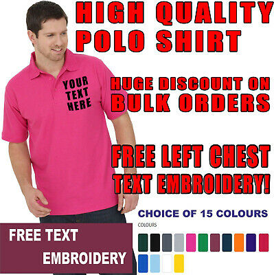 New Embroidered Personalised Polo Shirt, Highest quality Cheapest Uneek 101