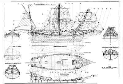 Collection of 26 High Quality Model Ships Plans on CD