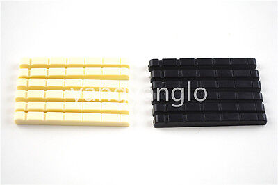 12pcs of Electric Guitar Nuts A028A Ivory&Black Free Shipping