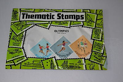 Vintage 1968 Olympics Albania Thematic Stamps