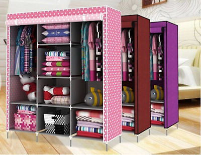 Hot New High-capacity Portable Dust-proof Wardrobe Armoire Storage Closet