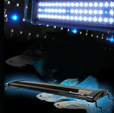 Aquarium Fish Tank Over-Head Lamp Bright LED Light White+Blue 45cm 16W • EUR 41,70