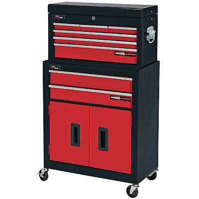Draper 8 Drawer Red Metal Tool Chest Roller Storage Cabinet Tool Box