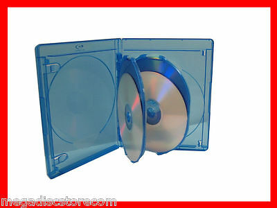 NEW 10 Pk VIVA ELITE 4 Tray Blu-ray Multi Replacement Cases - Holds 4 Discs