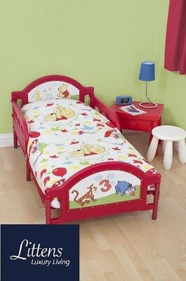 4 in 1 DISNEY WINNIE THE POOH FOREST JUNIOR COT BED BUNDLE TO FIT TODDLER BED