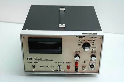 Mag Lab Magnetic Instrumentation ML40D Bench Electronic Gauss Meter 0-100K Range