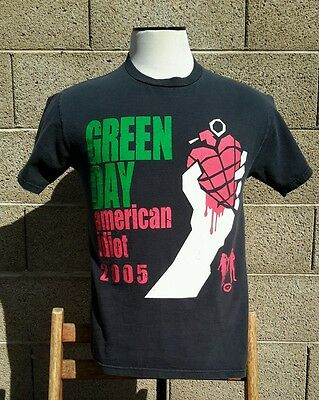Green Day American Idiot 2005 Rock Concert Tour Shirt Delta Brand Size M
