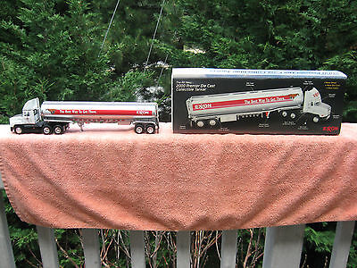 "2000 Premier Die Cast Collectible Exxon Tanker 14 1/2"" Length With COA"