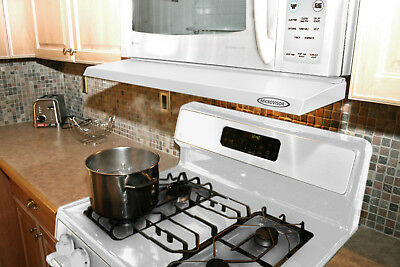 """Microvisorhood- a mini hood extension for a microwave over the range-""""WHITE"""""""