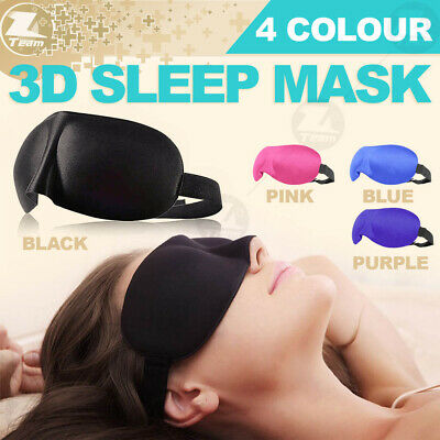 3D eye Sleep sleeping Mask Blindfold Soft Eye Shade Nap Cover Travel Rest