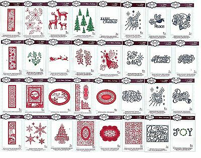 NEW 2015 CREATIVE EXPRESSIONS Craft Dies by Sue Wilson THE FESTIVE COLLECTION