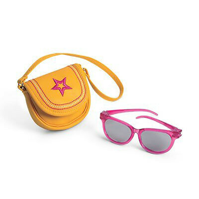 "American Girl MY AG SUNGLASSES & PURSE for 18"" Dolls Bag Accessories NEW"