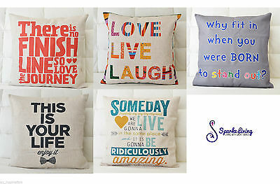 New Home Decor Vintage Linen Cotton Cushion Cover Throw Pillow Case 45x45cm