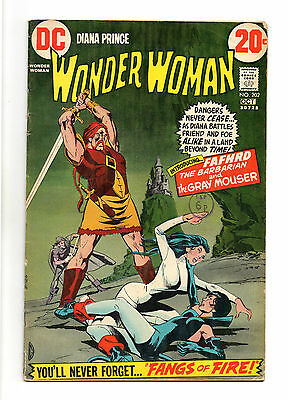 Wonder Woman Vol 1 No 202 Oct 1972 (VG+ to FN-) DC, Bronze Age (1970 - 1979)