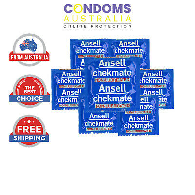 Ansell Chekmate Non-Lubricated Condoms Multi Options - FREE SHIPPING