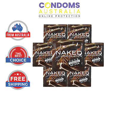 Four Seasons Naked Chocolate Condoms Multi Options - FREE SHIPPING