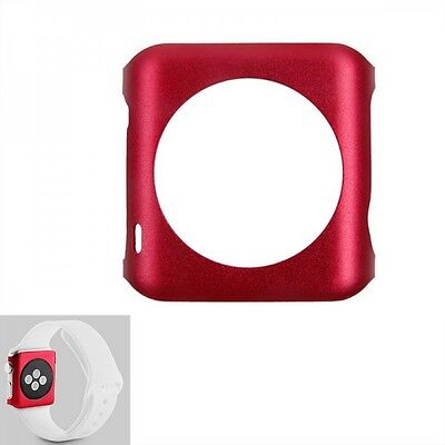Premium Snap On Alu Backcase Rot für Apple Watch 42 mm Schutzhülle Backcover