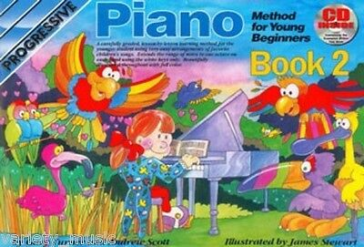 Progressive Piano Method for Young Beginners: Book 2 includes Cd