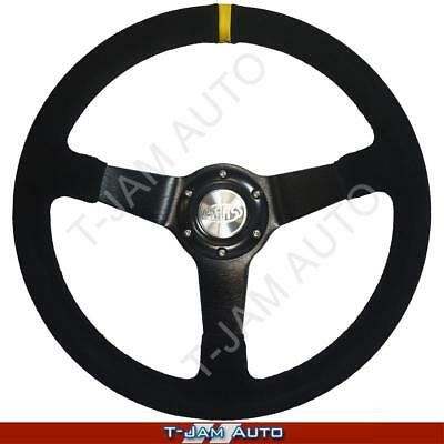 SAAS Genuine Drifter Suede Steering Wheel 350mm Deep Dish NEW