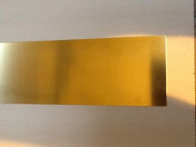 Brass sheet 0.5mm thick 300mm x 100mm