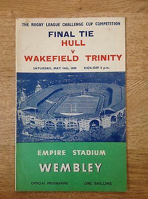 Hull v Wakefield Trinity 1960 Challenge Cup Final Rugby League Programme
