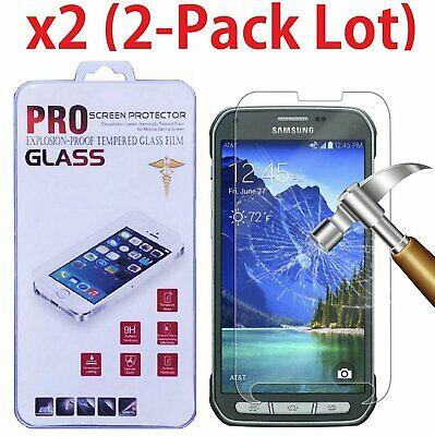 2-PACK Premium Tempered Glass Screen Protector Film for Samsung Galaxy S5 Active