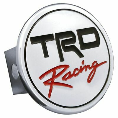 "TRD Racing Chrome Trailer Hitch Plug Cover 2"" Hitch Receiver Stainless Steel"
