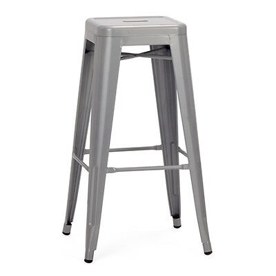 """Neo barstools painted grey 30"""" high"""