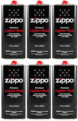 Zippo Premium Lighter Fluid 12 fl oz. (355ml) For All Zippo Lighters (Pack Of 6)
