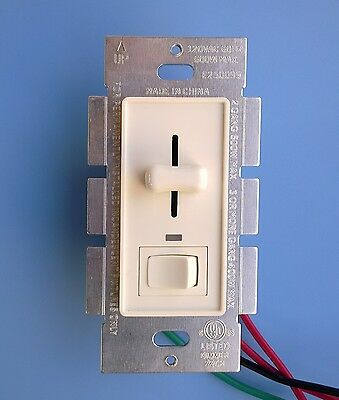 Preset Decora Slide Dimmer 120Vac 600W on/off switch 3 Way UL listed -White