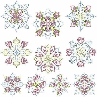 QUILTBLOCKS 1 * Machine Embroidery Patterns  * 10 Designs 2 Sizes