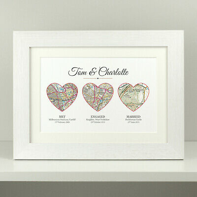 Wedding gift / personalised anniversary present / Christmas present OS map VA069