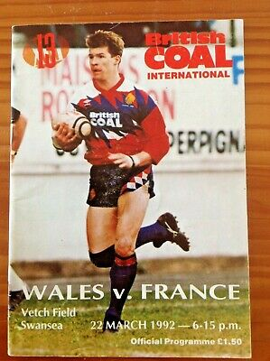 Wales v France 1992 Rugby League Programme