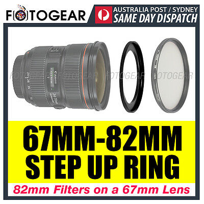 Step Up Ring 67-82mm Filter Lens Adapter 67mm-82mm AUSPOST