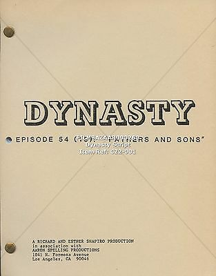 JOAN COLLINS - Original Vintage DYNASTY Script  'Fathers And Sons' 1983 C22-001
