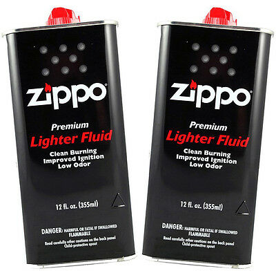 Zippo Premium Lighter Fluid 12 fl oz. (355ml) For All Zippo Lighters (Pack Of 2)