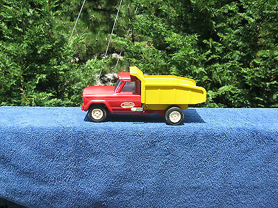 "Vintage 1960's Tonka Jeep Gladiator Dump Truck Pressed Steel 9 1/2"" Length"