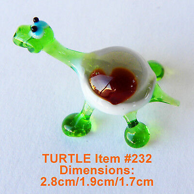 M16 Turtle decor gift Murano blown glass figurine art sculptur