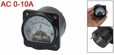 NEW Class 2.5 Accuracy AC 0-10A Round Analog Panel Meter Ammeter Black