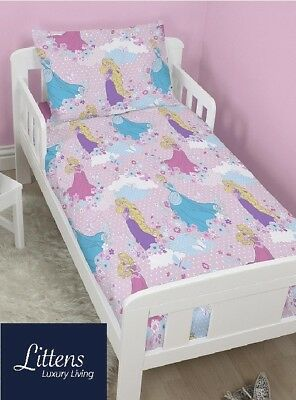 4 in 1 DISNEY PRINCESS DREAMS JUNIOR CHARACTER COT BED BUNDLE TO FIT TODDLER BED