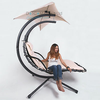 Hammock Helicopter Outdoor Hanging Swing Seat Garden Chair Sun Lounger Cushion