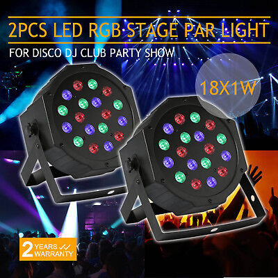 2Pc Rgb Led Stage Light Dmx Lighting Laser Projector For Party Show Disco