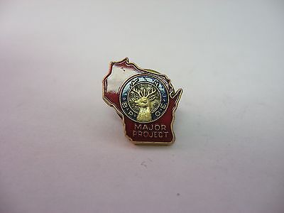 BPOE Major Projects Pin Wisconsin RED Enamel Design