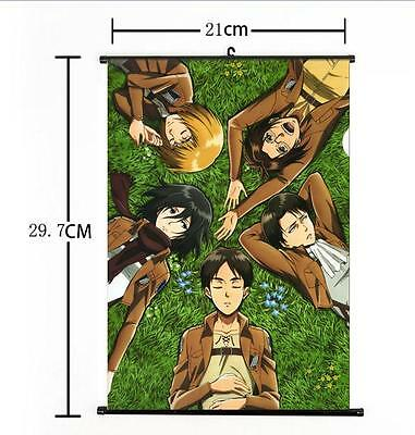 Hot Japan Anime Attack on Titan Survey Corp Home Decor Poster Wall Scroll 21*30