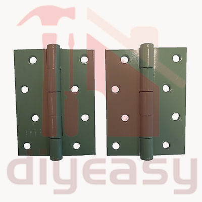 Butt Hinge 100x75x2.5mm Mist Green/Meadow For Colorbond Doors Gates Fences Pair