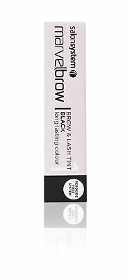 Salon System Marvelbrow Brow & Lash Tint Black Peroxide Free Gel Formula 15ml