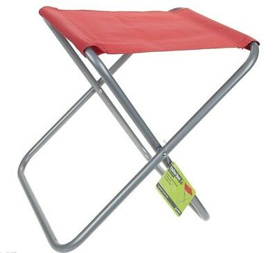 Summit Folding Fold Chair Outdoor Stool Seat Fishing Camping Red
