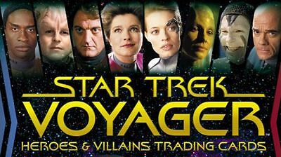2 x Star Trek Voyager Heroes & Villains Trading Card Box + Bonus