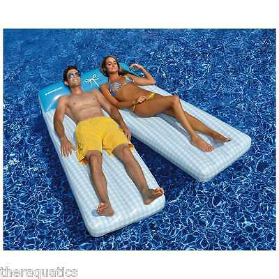 Swimline Board Shorts Double Lounger Mattress Pool Float Suntan Pillow 90602